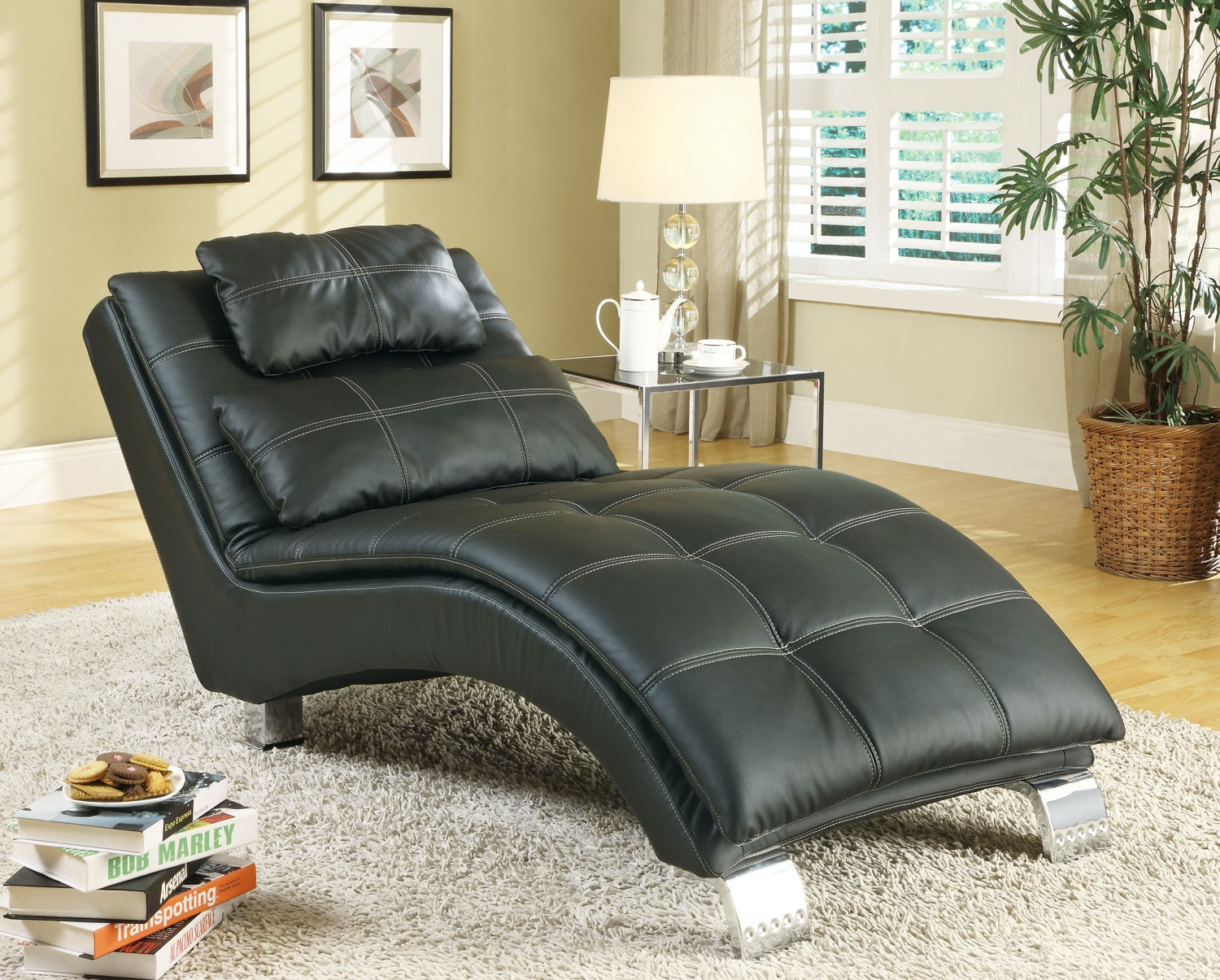 Elegant Coaster Living Room Chaise 550075   Furniture Kingdom   Gainesville, FL