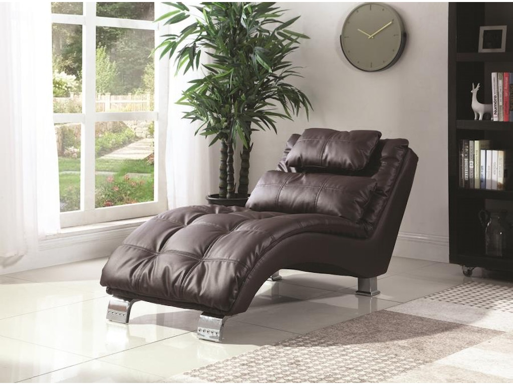 Coaster living room chaise 550076 adams furniture for Adams white chaise lounge