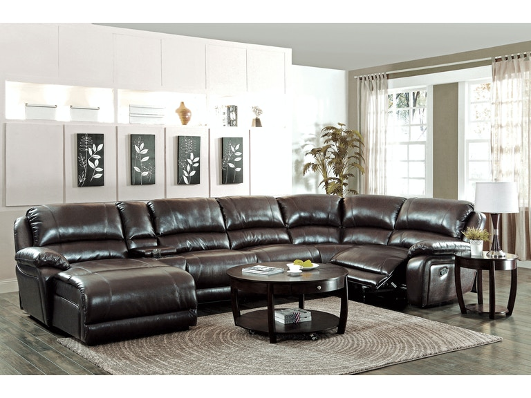 Coaster Living Room 6 Piece Reclining Sectional Sofa