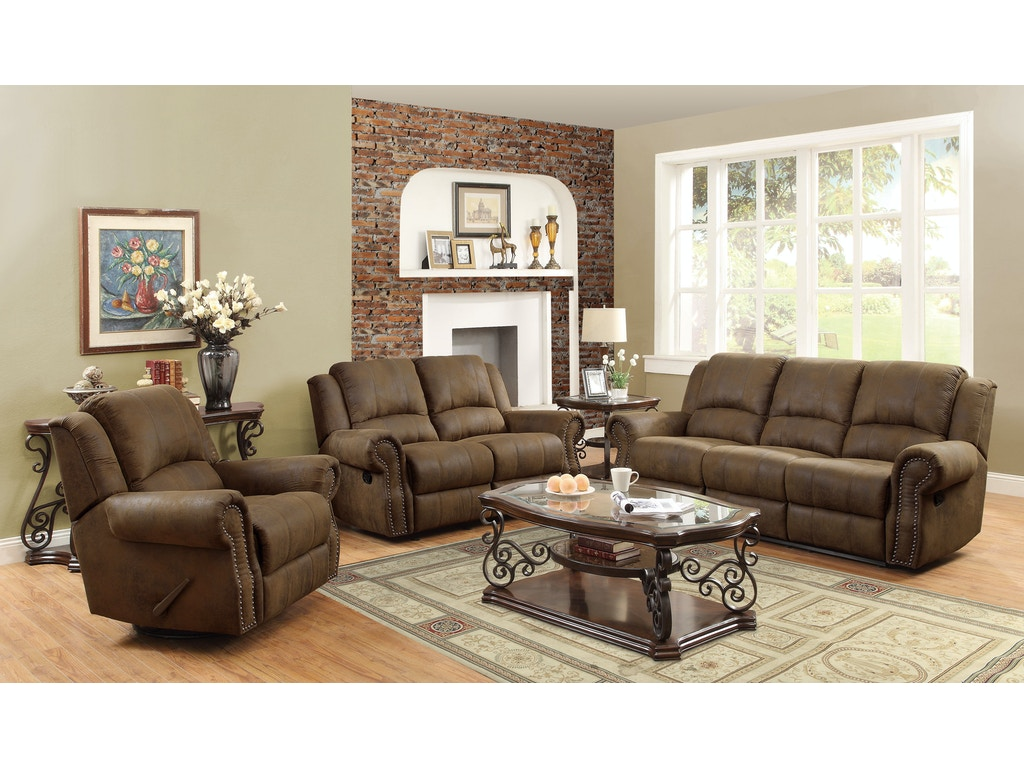 Coaster living room swivel rocker recliner 650153 simply for Bargain living room furniture