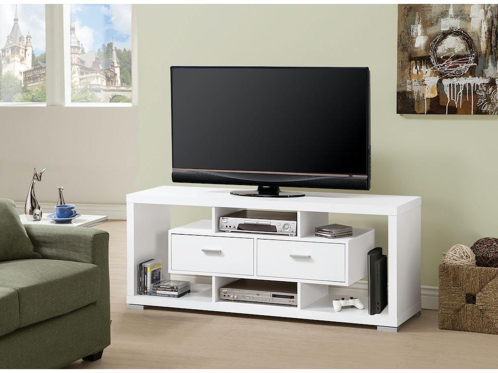 Coaster Living Room TV Console 700113 - Adams Furniture ...
