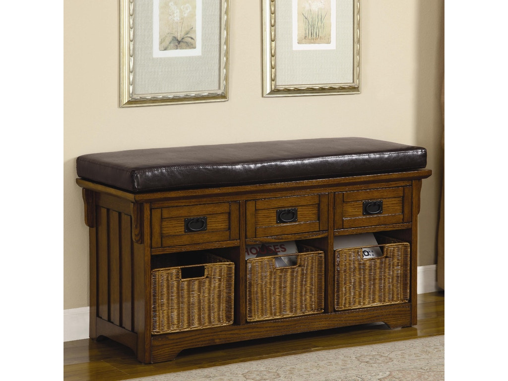 Coaster Living Room Bench 501061 At Adams Furniture