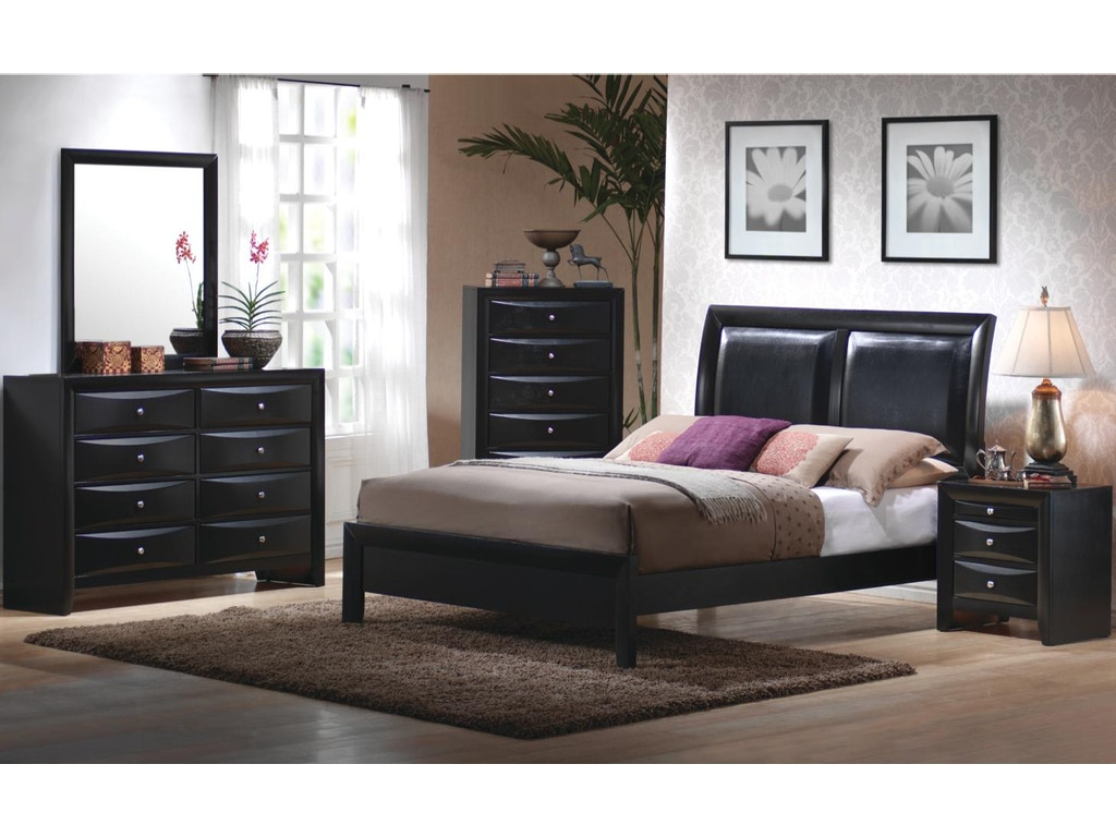 Coaster bedroom dresser 200703 hickory furniture mart for Mens black bedroom furniture