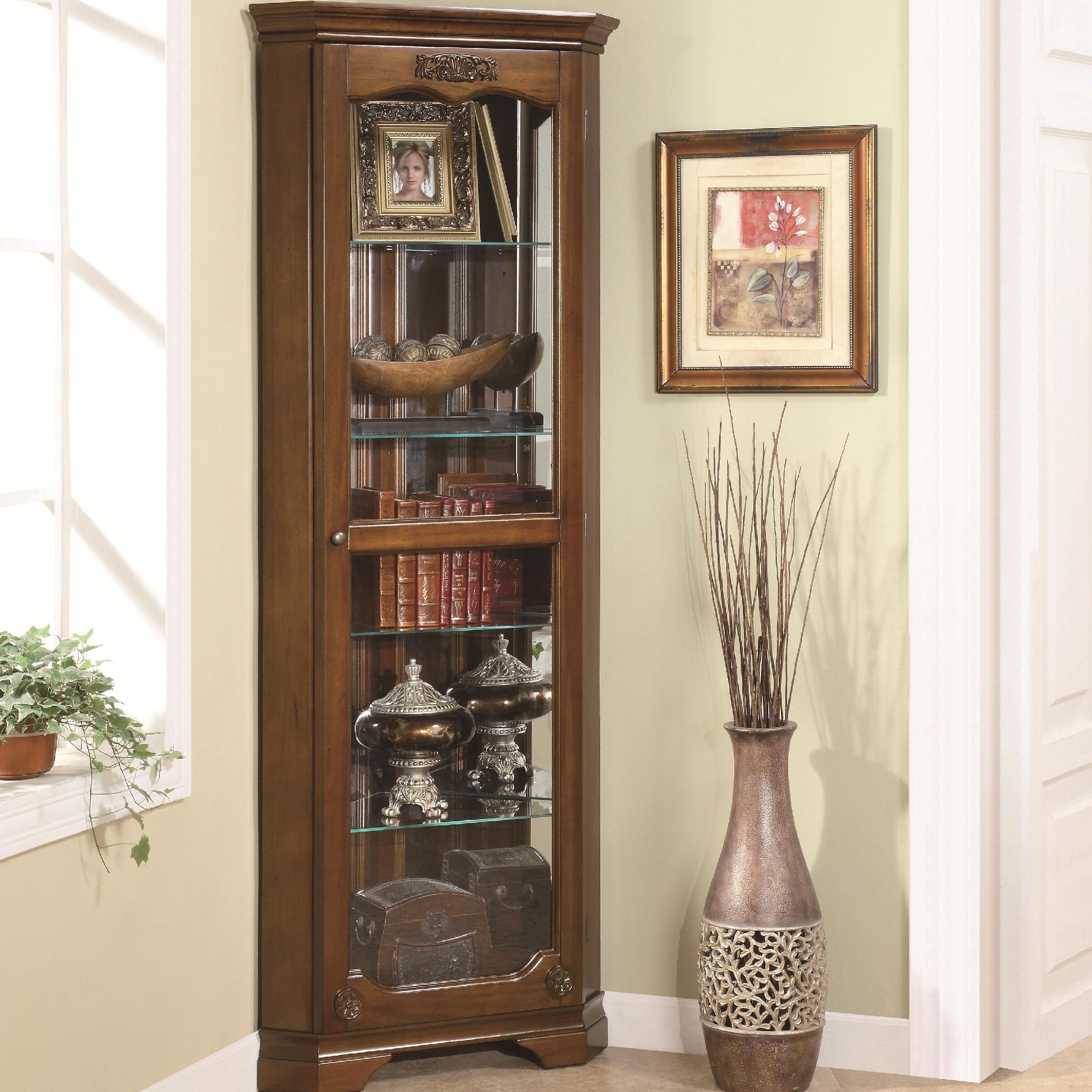 Coaster Living Room Curio Cabinet 950195 Aaron S Fine