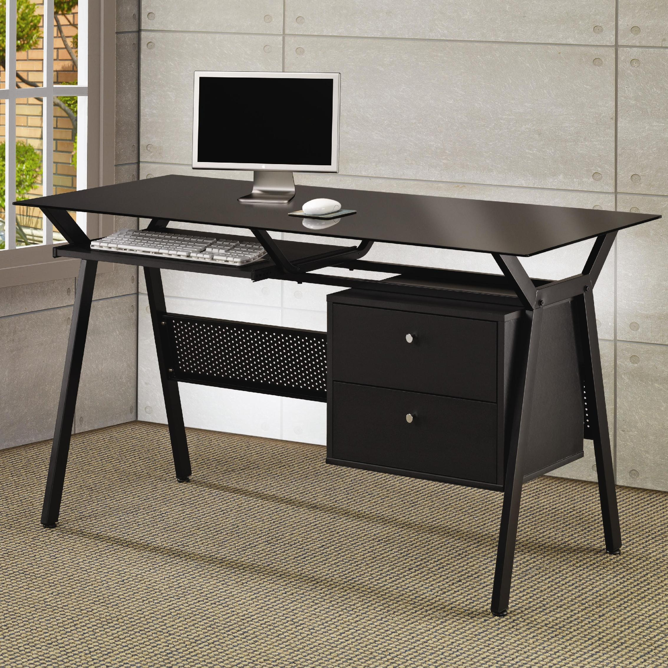 Nesting Office Computer Desk In Cappuccino By Coaster 800434