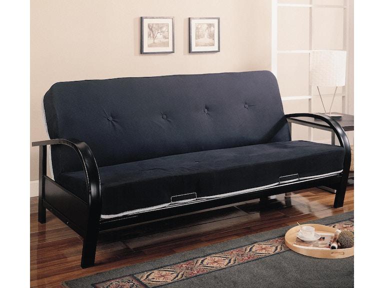 Coaster Living Room Futon Frame 300159 Emw Carpets Furniture Denver Co