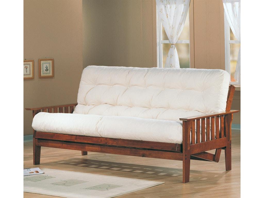 Coaster Living Room Futon Frame 4382 Royal Furniture And Design Key West Florida Keys