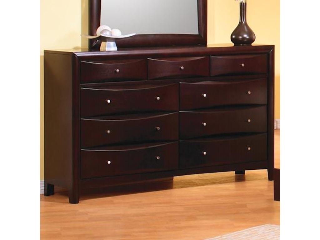 Coaster bedroom dresser 200413 hickory furniture mart for Bedroom furniture hickory nc