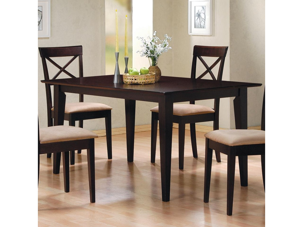 Coaster dining room dining table 100771 royal furniture for Table design odessa fl