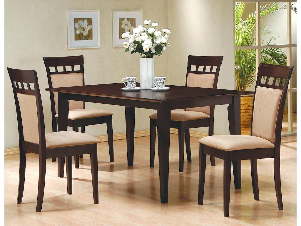 coaster dining room dining table adams furniture coas