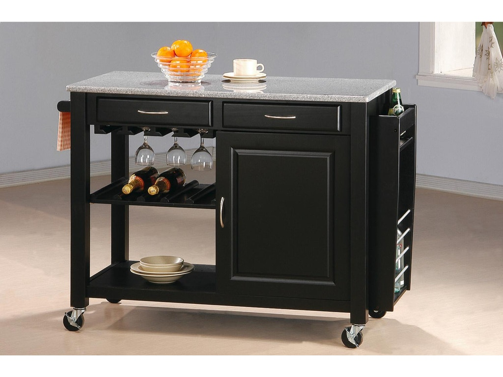 Kitchen Furniture Company Coaster Accessories Kitchen Cart 5870 Fiore Furniture Company