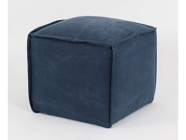 Container Marketing Pouf Ottoman With Flange Sewn Seams CC2427