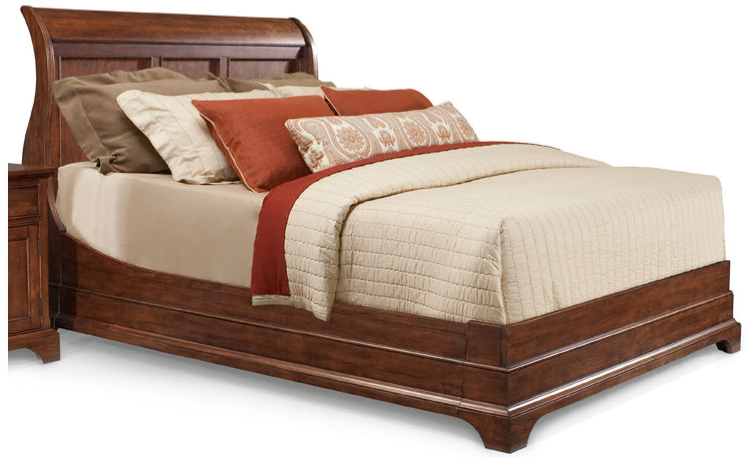 Cresent Fine Furniture Bedroom Retreat Cherry Sleigh Bed California King 6 0 1532 Cal King
