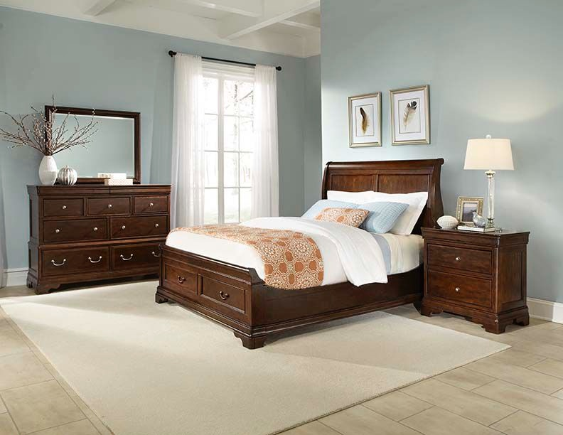 Cresent Fine Furniture Provence Storage Seligh Bed 1732 Sleigh Storage Bed