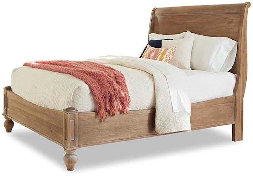 Cresent Fine Furniture Bedroom Cottage Sleigh Bed-Natural 201-232 ...