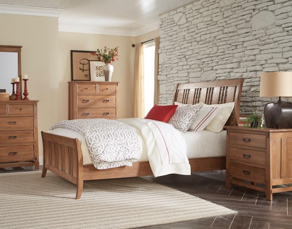 Cresent Fine Furniture Bedroom Camden Sleigh Bed 202-132 Sleigh Bed ...