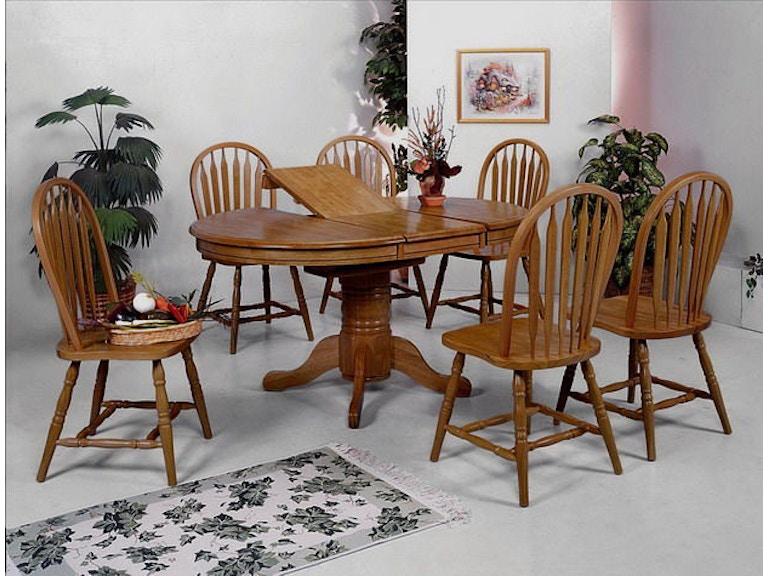 Crown Mark Farmhouse Oval Dining 1052 5P