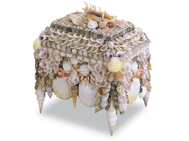 Currey and Company Boardwalk Shell Jewelry Box 1251