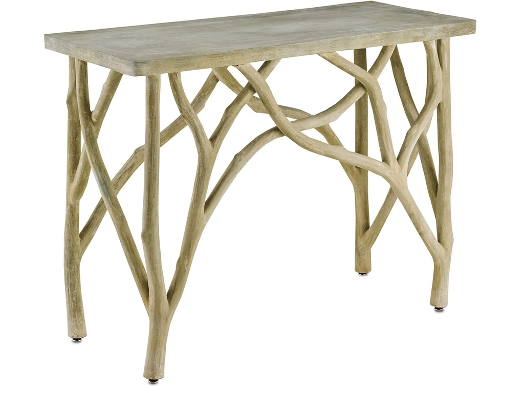 Currey And Company Living Room Creekside Console Table 2037 Matter Brothers Furniture Fort
