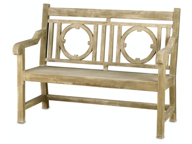 Currey and Company Leagrave Bench, Small 2385