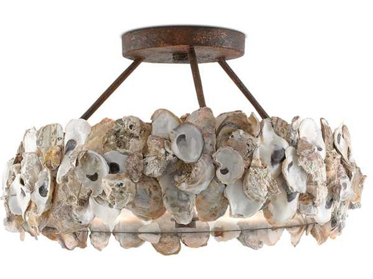 Currey And Company Oyster Semi Flush 9000 0265