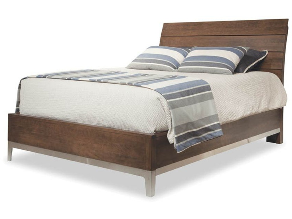 Durham furniture bedroom queen wood plank bed 157 124 for Furniture 124