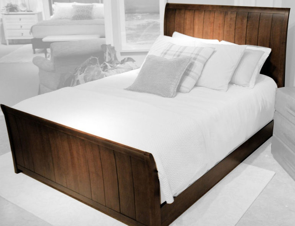 Durham Furniture Bedroom Contemporary Sleigh Bed 900-147 ...