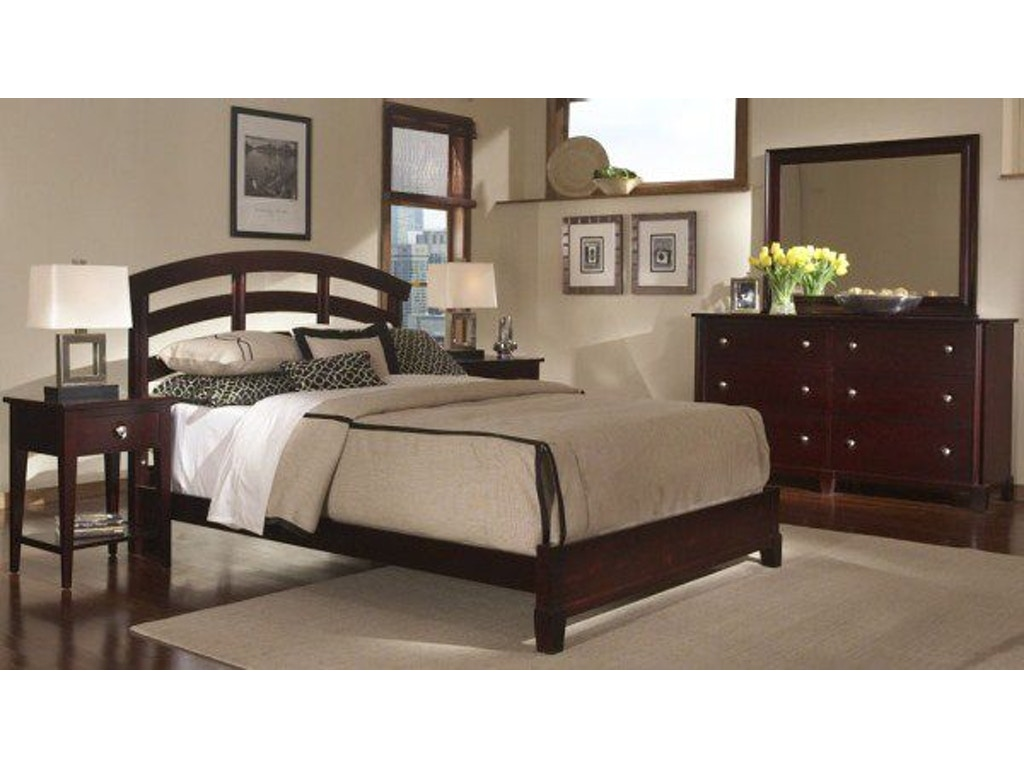 Durham Furniture Bedroom Queen Slat Bed Complete 227 120 Stowers Furniture San Antonio Tx