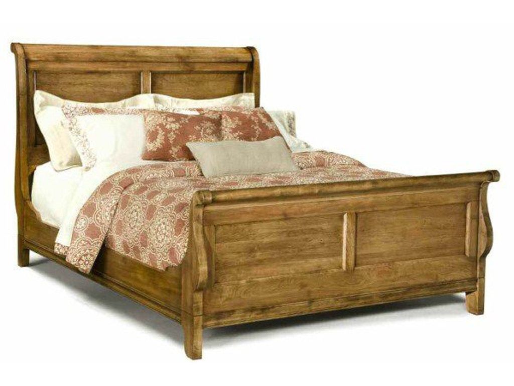 Durham furniture bedroom queen sleigh bed 112 128 for Bedroom furniture hickory nc
