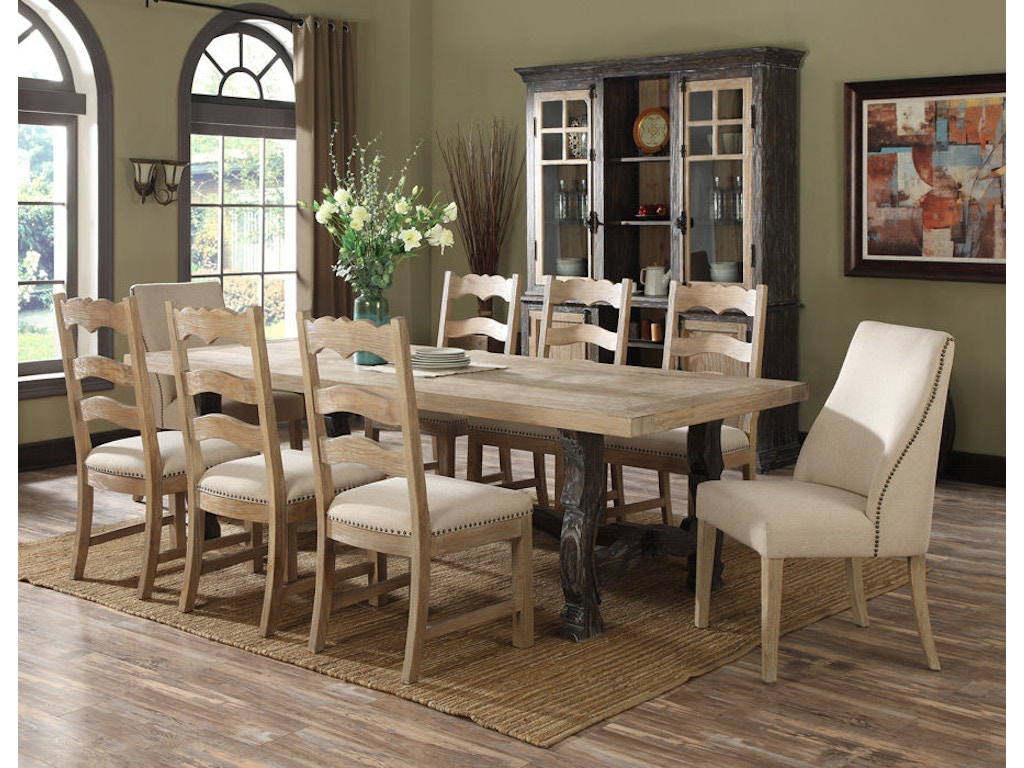 Emerald Home Furnishings Dining Room Dining Table Kit Top And Base ...