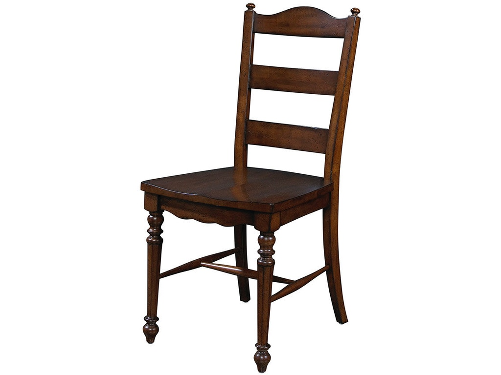 Fine furniture design dining room ladder back side chair for Fine dining room furniture