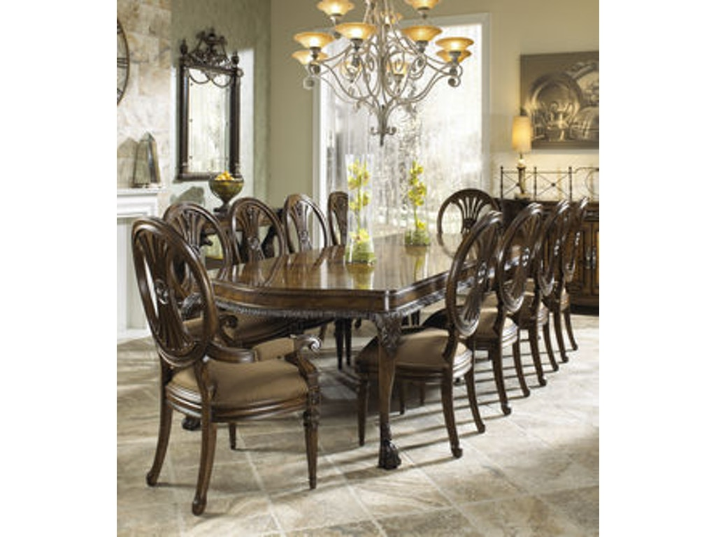 Fine Furniture Design Dining Room Leg Table 1150 814 Louis Shanks Austin San Antonio Tx