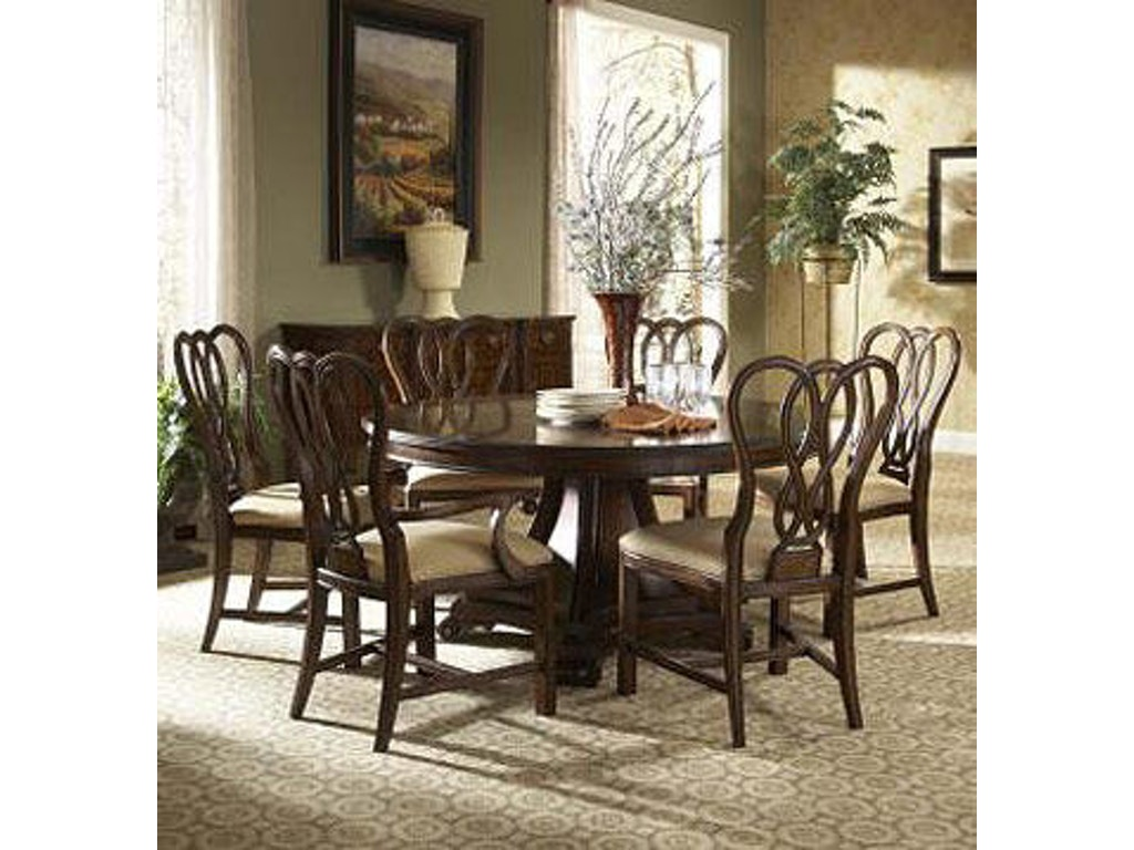 Fine furniture design dining room round dining table 1110 for Fine dining room furniture