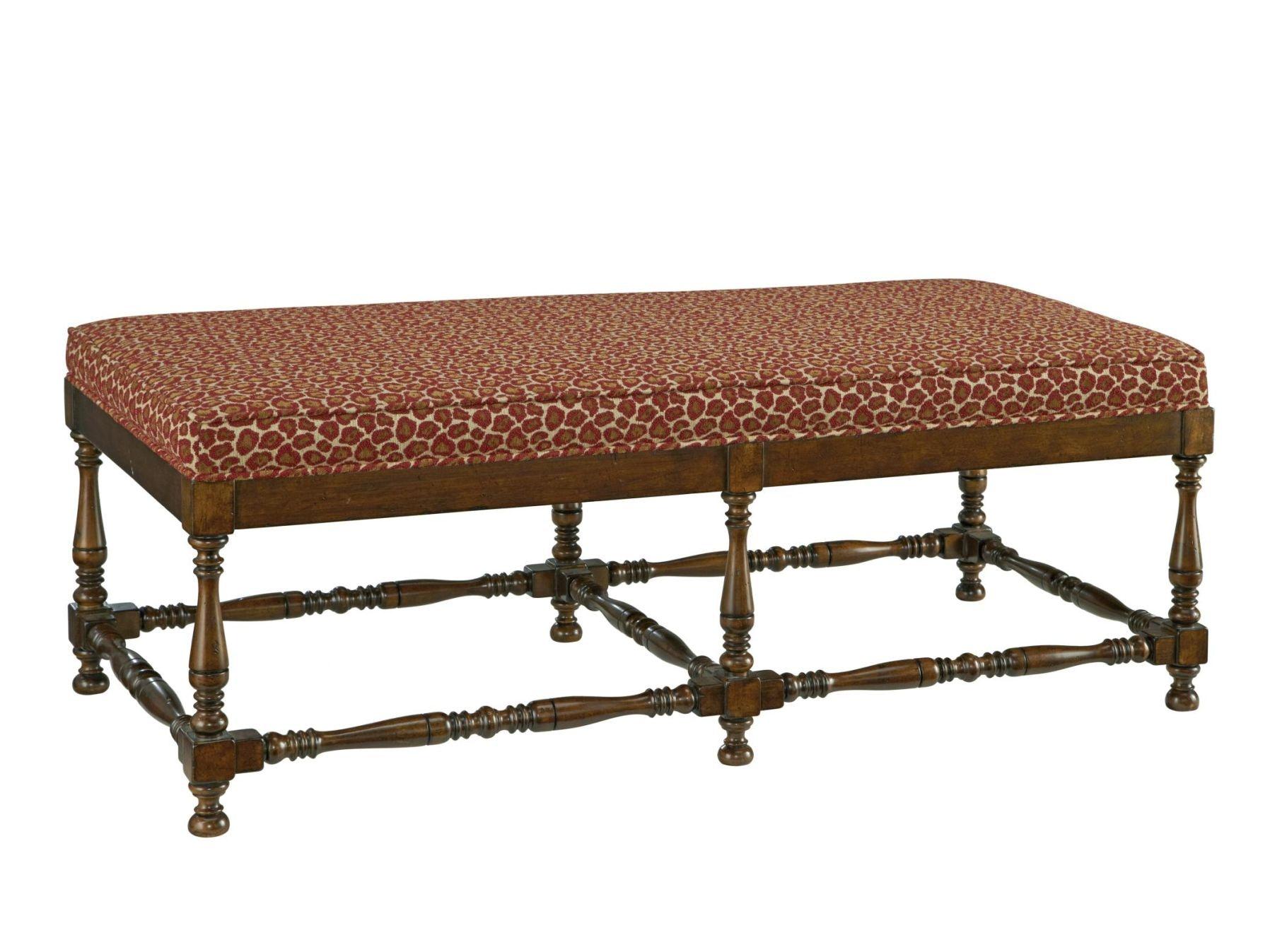 Fine Furniture Design Bedroom Turned Leg Ottoman Bench 3909 04   Bacons  Furniture   Port Charlotte, FL