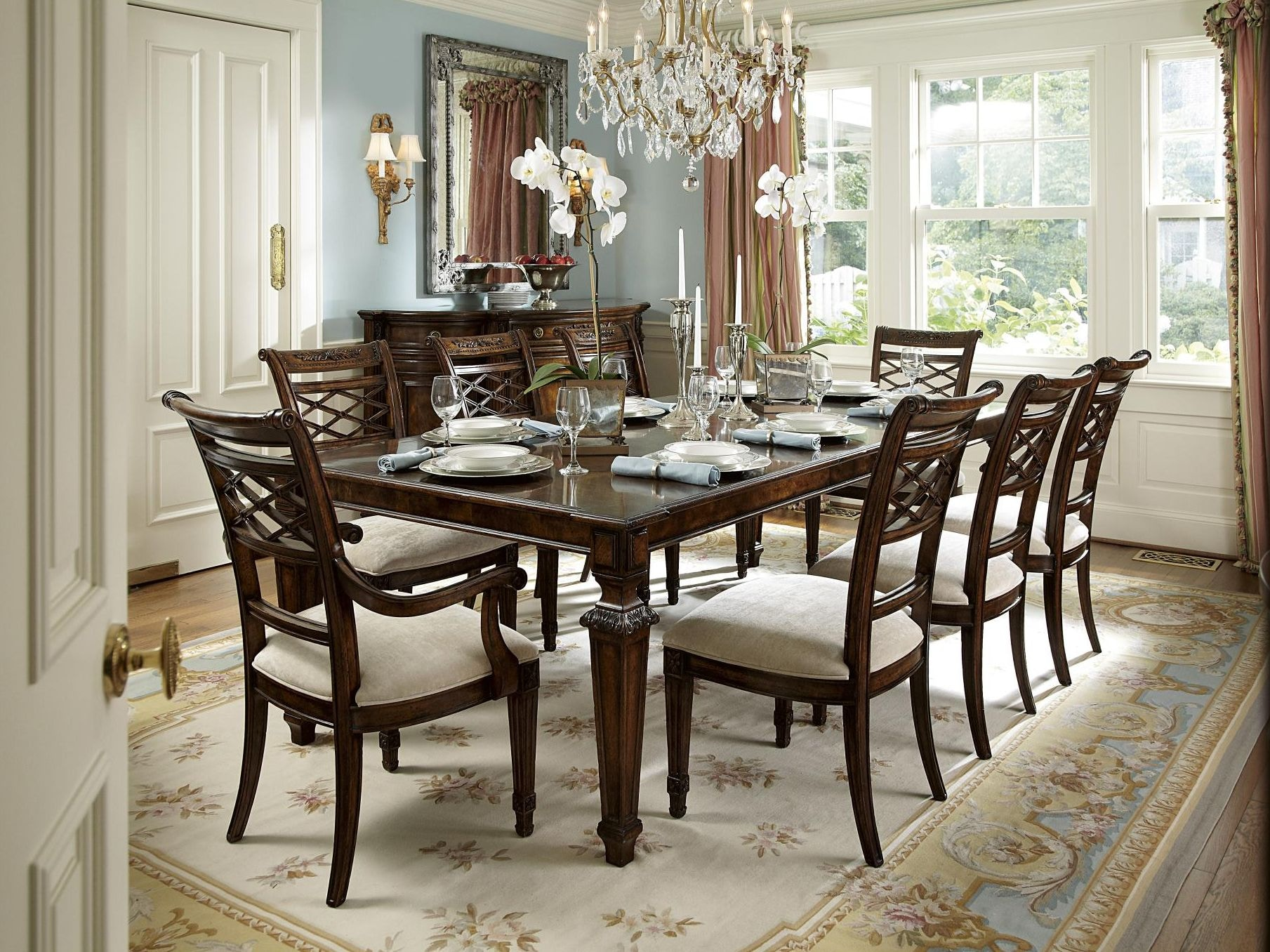 Fine furniture design dining room louis dining table 1340 for Md table design