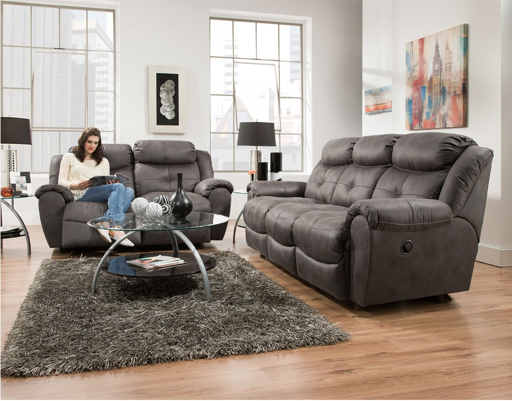 Franklin Living Room Lisbon Leather Reclining Sofa 70242l A W