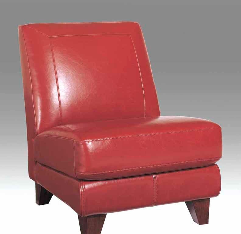 Elegant Futura Leathers Living Room Leather Armless Chair 6102 ARMLESS CHAIR At  Trivettu0027s Furniture