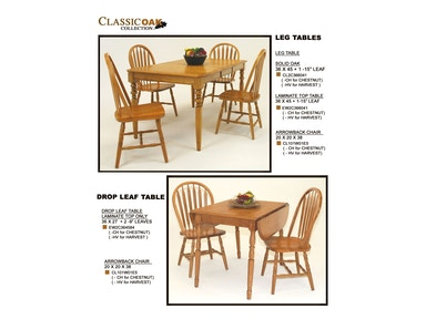 GS Furniture Solid Oake Leg Table CL2C366041