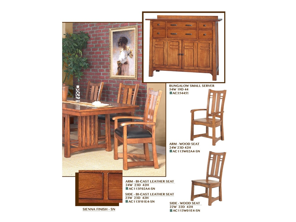 Gs furniture dining room bungalow small server ac35445s summit furniture gallery lee 39 s - Small dining room servers ...