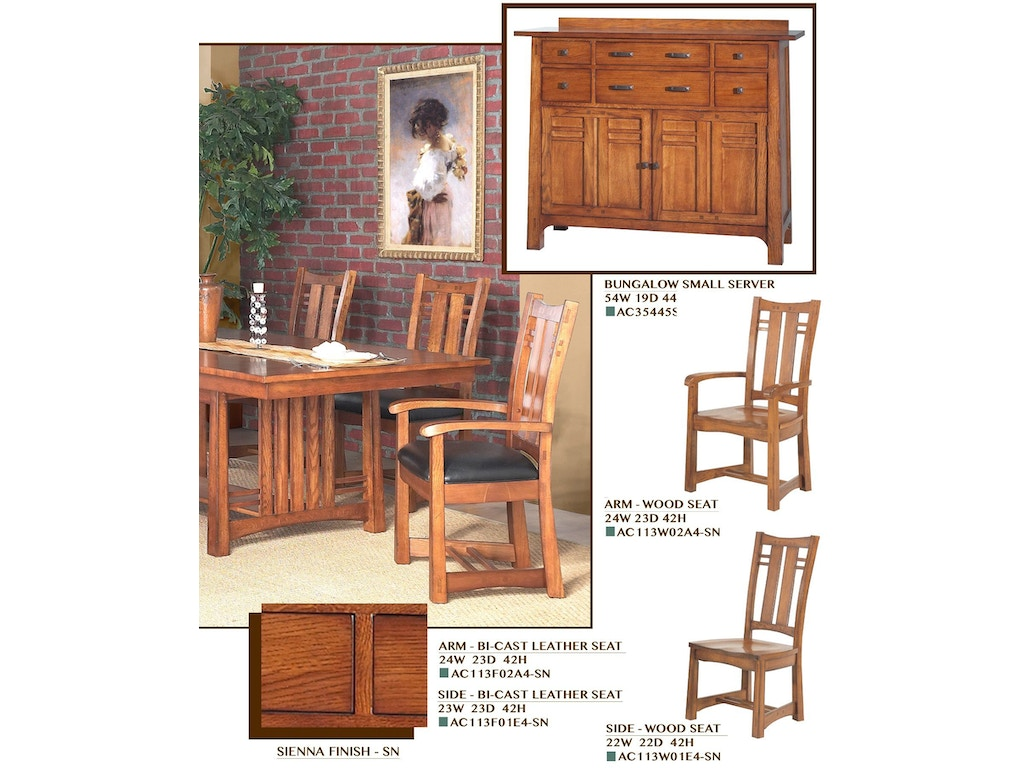 Gs furniture dining room bungalow small server ac35445s aaron 39 s fine furniture altamonte - Small dining room servers ...