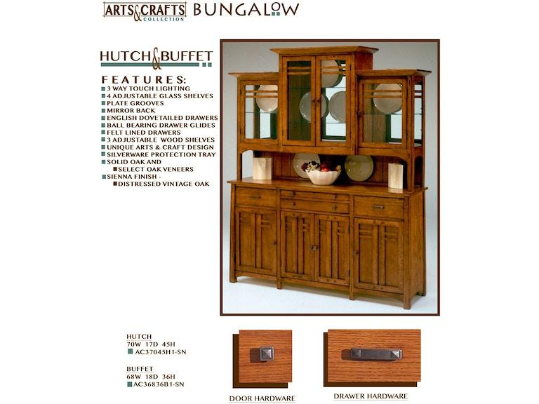 GS Furniture Solid Oak Trestle Buffet AC36836B1 SN
