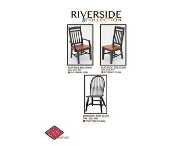 GS Furniture Windsor Side Chair RV117W01E5-BW
