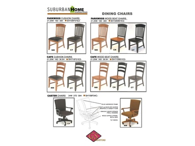 GS Furniture Parkwood Wood Seat Chair SH105W01E2