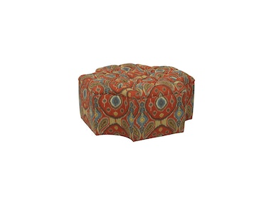 Drexel Heritage Living Room Morgan Leather Ottoman