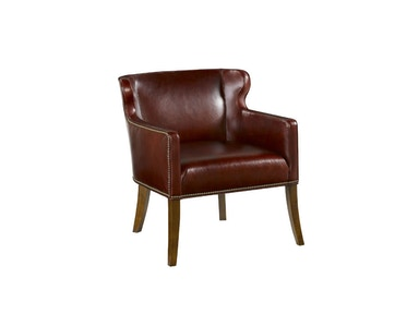 Drexel Heritage Living Room Keeley Leather Arm Chair
