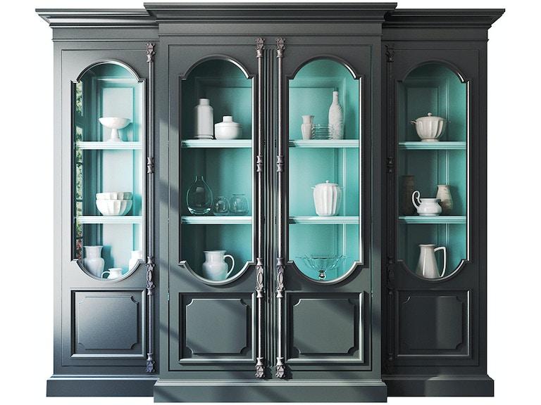 Habersham Plantation Living Room Tivoli Breakfront Display Cabinet 23 1439