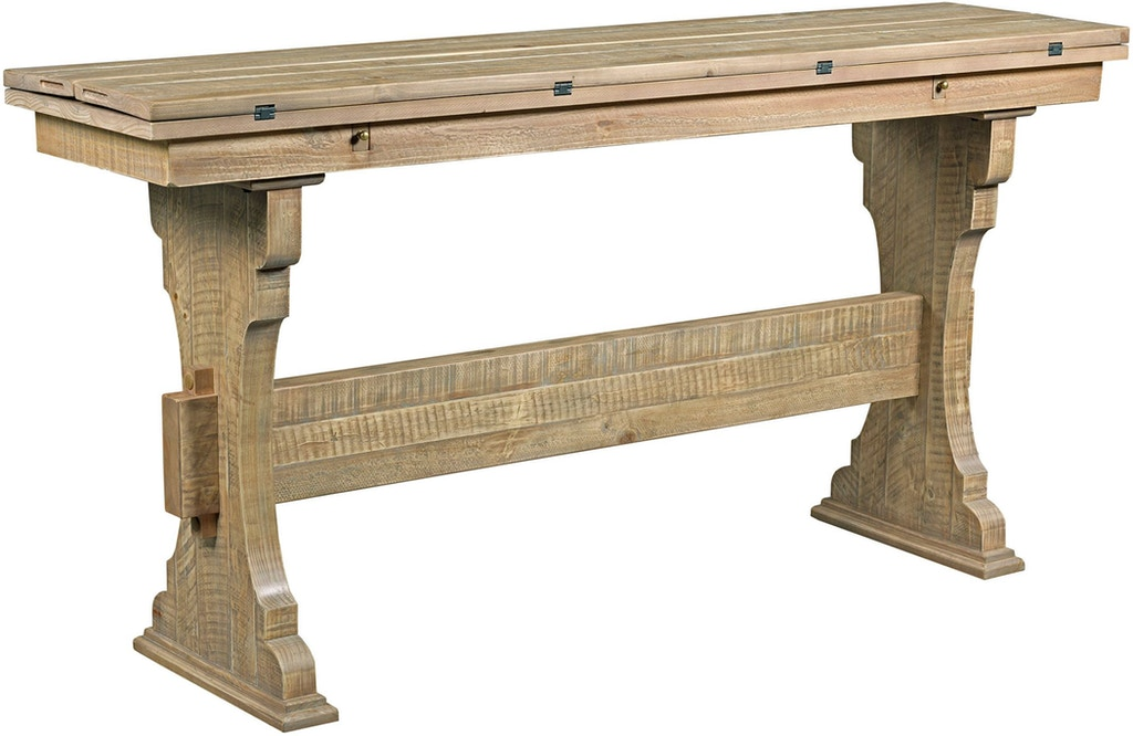 hammary living room trestle flip top table 090 881. Black Bedroom Furniture Sets. Home Design Ideas