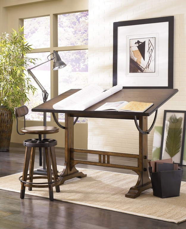 Hammary Home Office Architect Desk 166-940 - Stacy Furniture ...
