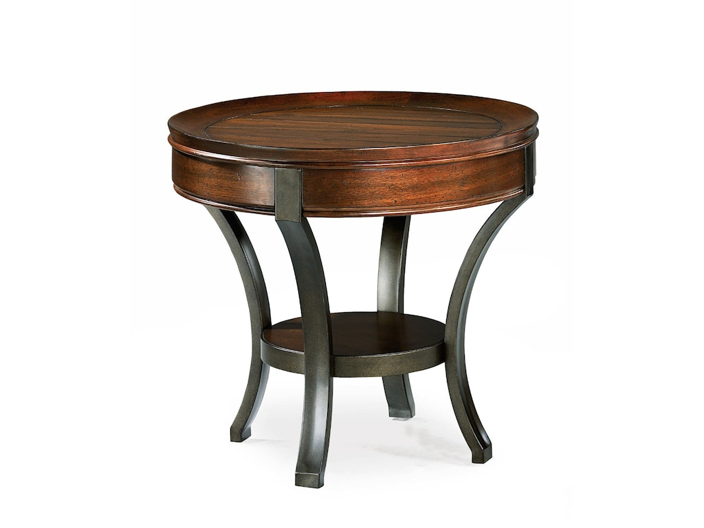 Hammary Living Room Round End Table Kd 197 917 Fwdg Beaufort Sc