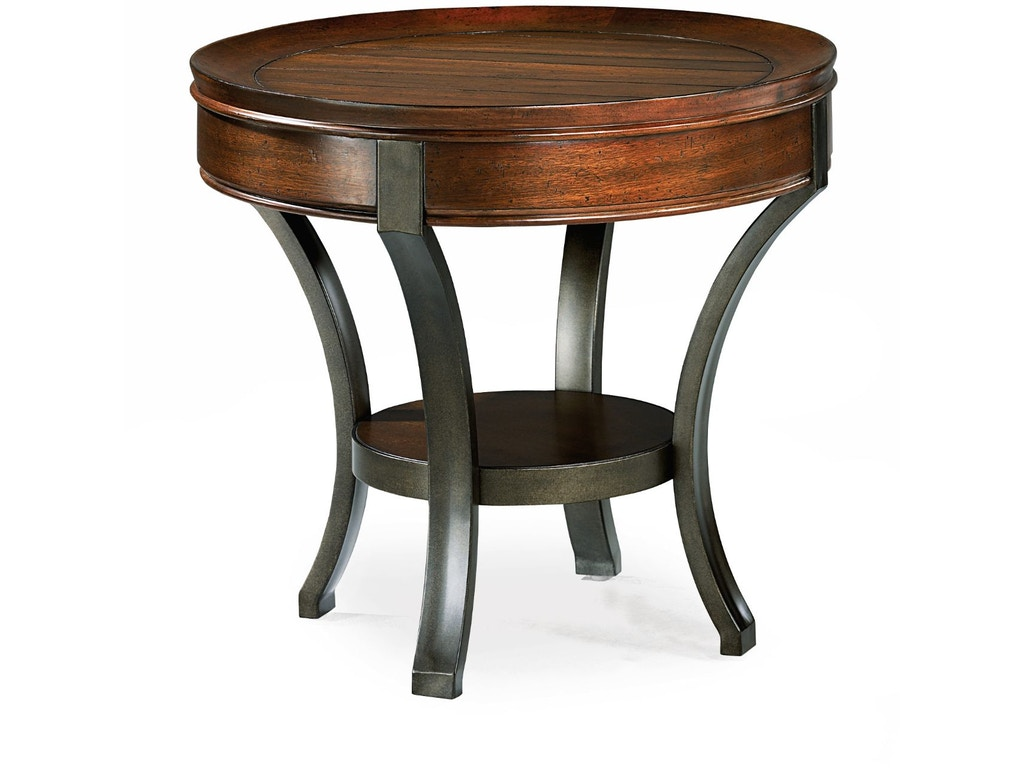 Hammary Living Room Round End Table 197 917 Carol House Furniture Maryland Heights And
